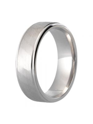 9ct White Gold Solid Gents' Wedding Band