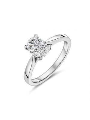 18ct white gold oval shape Lab diamond ring