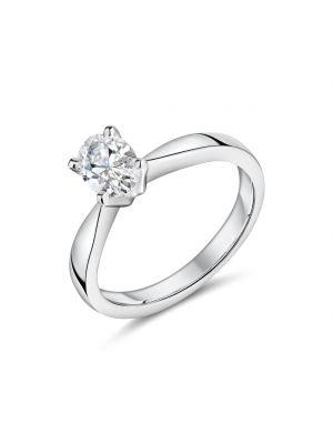 18ct white gold oval cut Lab diamond ring