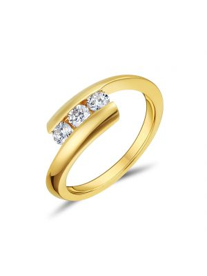 18ct Yellow Gold Three Stone Diamond Ring