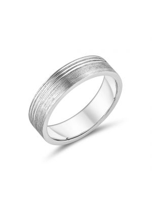Sterling Silver Sleek Gents Wedding Band