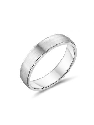 9ct Gents 5mm White Gold Band