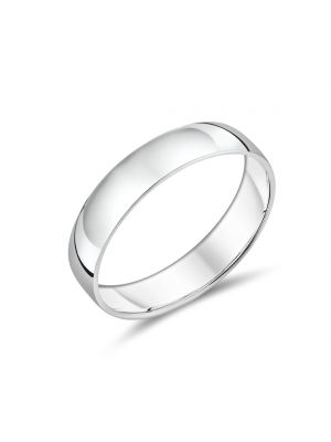 9ct White Gold Simple Gents Wedding Band