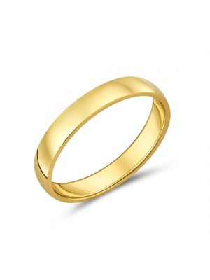 9ct Yellow Gold 4mm Gents Wedding Band