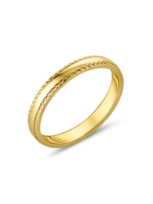 9ct Yellow Gold Crossover Design Ladies Wedding Band