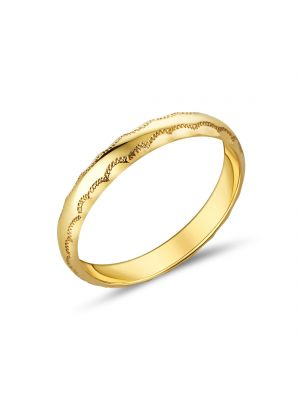 9ct Yellow Gold Curved Edge Ladies Wedding Band