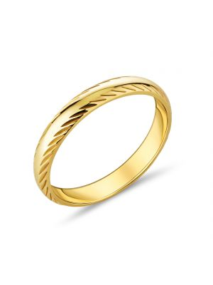 9ct Yellow Gold Comfort Fit Band with Slanted Design