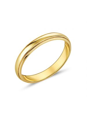 9ct Yellow Gold 3mm Ladies Ring