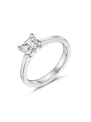 18ct white gold radiant cut diamond ring