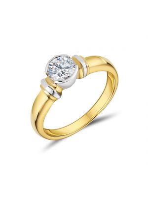 18ct Yellow Gold Round Brilliant Solitaire Ring