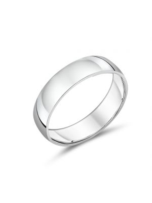 Simple and Classic Sterling Silver Gents Band