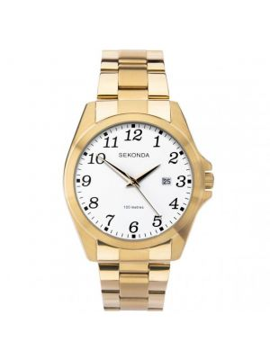 Sekonda Gold Tone Gents Watch with Black Dial