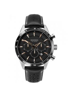Sekonda Black Strap Chronograph Gents Watch