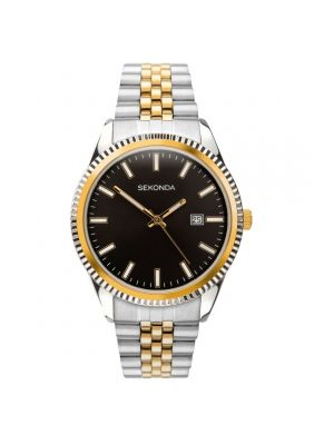 Sekonda Two Tone Gents Watch with Black Dial