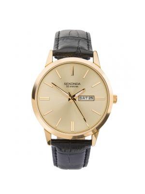 Sekonda Men's Strap Watch with Gold Tone Dial