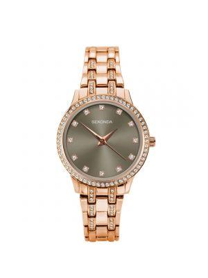 Sekonda Ladies Rose Gold Watch with Grey Dial