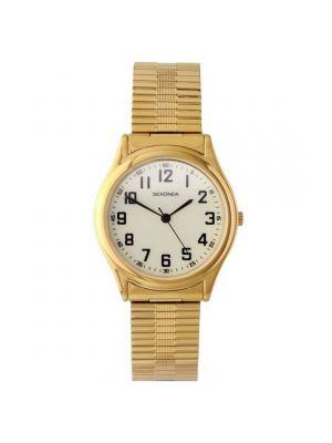 Sekonda Men's Gold Tone Expander Watch with Glow in the Dark Dial