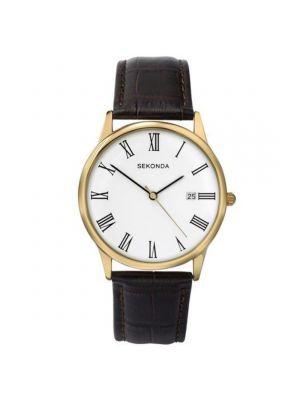Sekonda Man's Brown Strap Watch