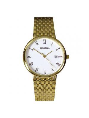 Sekonda Gents Gold Tone Bracelet Watch