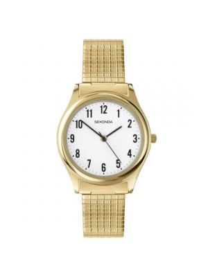 Sekonda Men's Gold Tone Expander Watch with White Dial