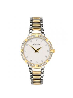 Sekonda Ladies Two Tone Watch with Silver Dial