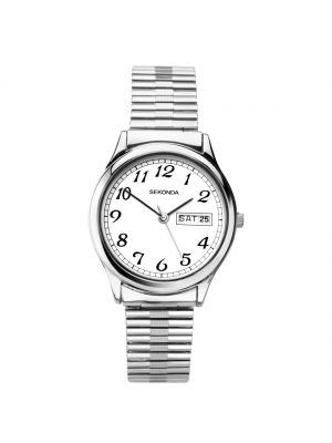 Sekonda ladies stainless steel elasticated strap watch