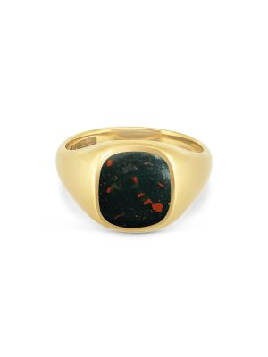 9ct Yellow Gold Gent's Bloodstone Signet Ring