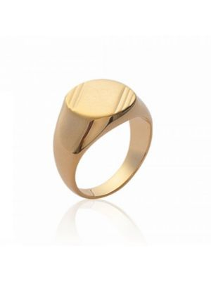 18ct Yellow Gold Microplated Signet Ring