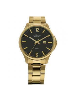 Telstar Mens Gold Tone Bracelet Watch