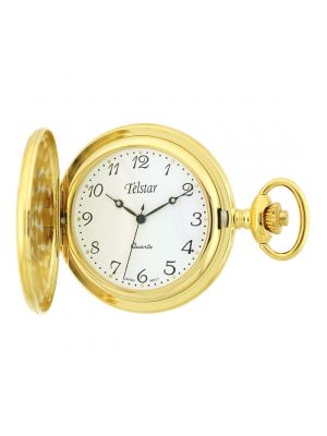 The Florence fob nurseswatch from Telstar is a unisex watch in a gold tone with a white face.