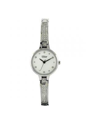 Telstar Ladies Silver Tone Crystal Set Bracelet Watch