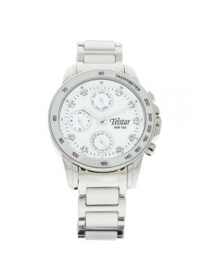 Telstar Ceramic and silver tone  watch