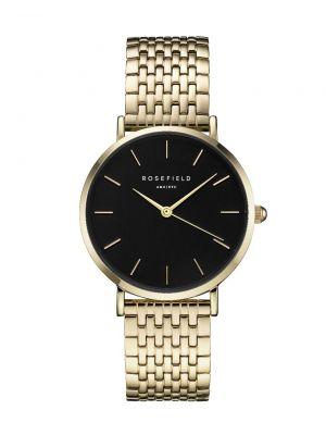 Rosefield Upper East Side gold & black watch 33mm