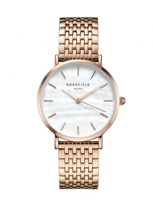The Upper East Side White Pearl and Rosegold Watch