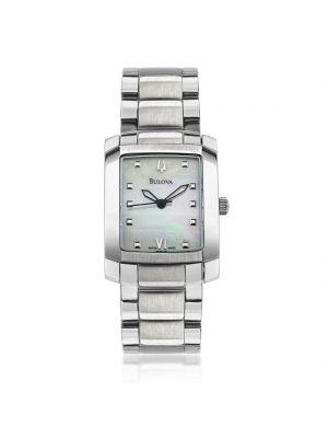 Ladies Bulova rectangular dial stainless steel watch