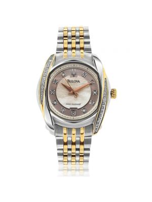 Ladies Bulova two tone diamond watch
