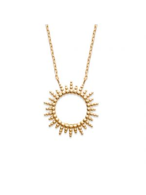 18ct yellow gold microplated open star pendant