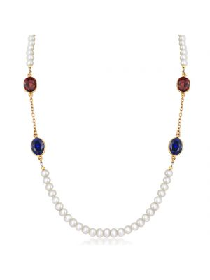 Freshwater Pearl & Sapphire Necklace