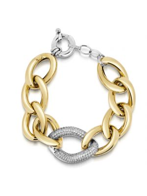 18ct Yellow Gold Microplated Cubic Zirconia Bracelet