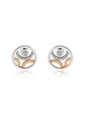 14ct Rose & White Gold Diamond Earrings