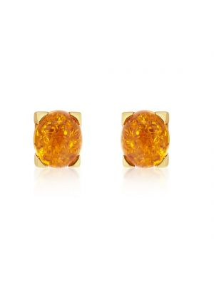 14ct Yellow Gold Amber Earrings