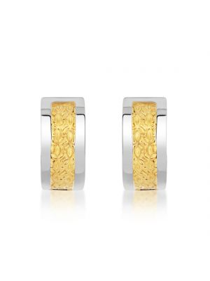14ct White & Yellow Gold Earrings
