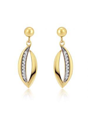 9ct Yellow Gold Cubic Zirconia Classic Drop Earrings