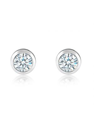 18ct White Gold Diamond Stud Earrings (total diamond weight 20 points)