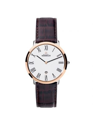 Gents Michel Herbelin Steel & Rose Ikone Grande Watch