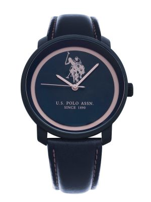 US Polo Ass Navy & Pink Dress Watch