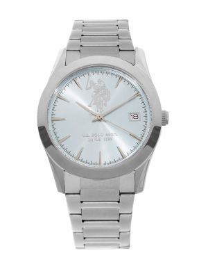 US polo Association stainless steel ladies watch with turquoise dial