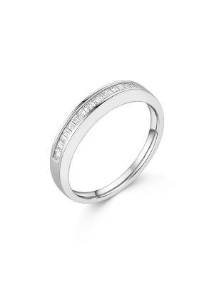 18ct White Gold Baguette Cut Diamond Ring