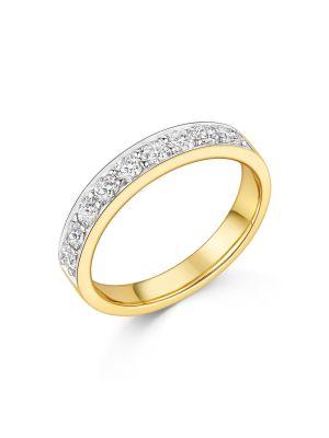 18ct White & Yellow Gold Diamond Band