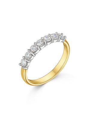 18ct Yellow Gold Seven Diamond Ring